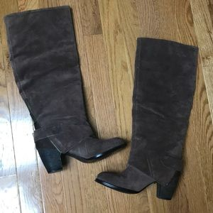 Tall suede boot